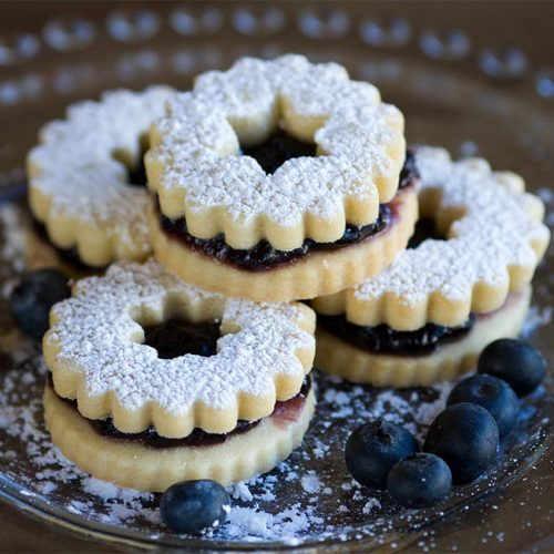 Blueberry Linzer Cookies Anchorage AK