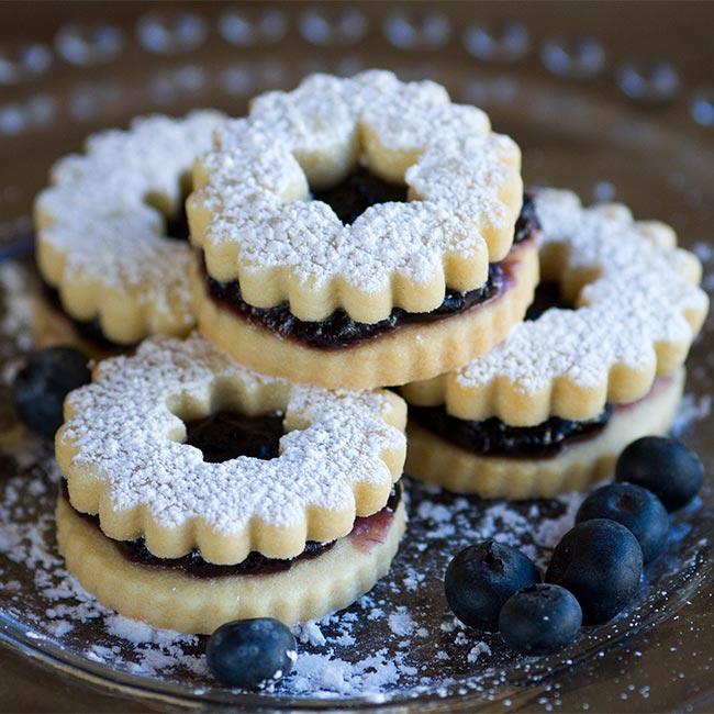 Blueberry Linzer Cookies Anchorage AK