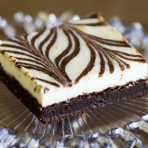 cheesecake brownies at alaska cake studio