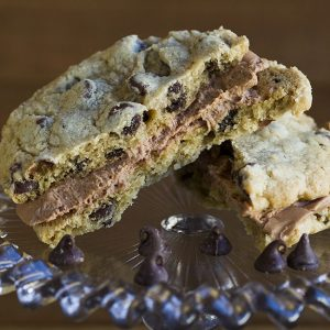 chocolate chip sandwich cookie at alaska cake studio
