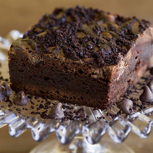 double chocolate brownies at alaska cake studio