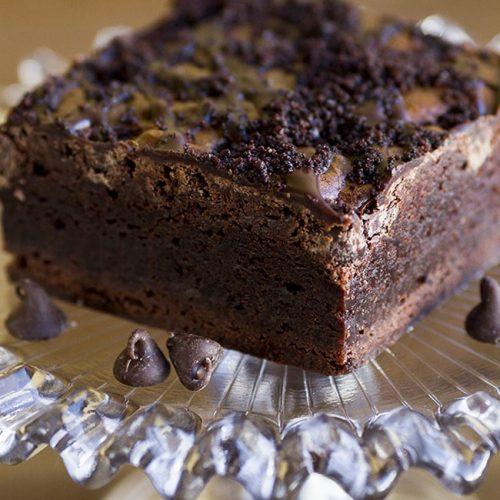 double chocolate brownies at alaska cake studio