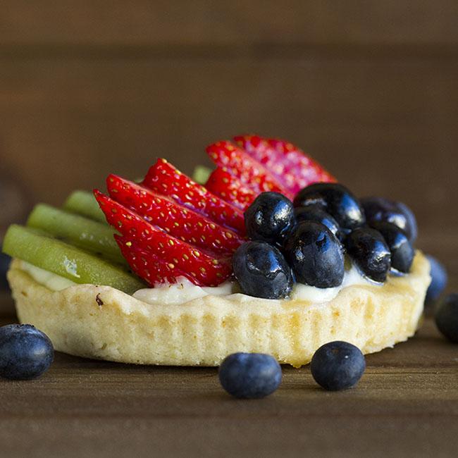 fruit tart at alaska cake studio