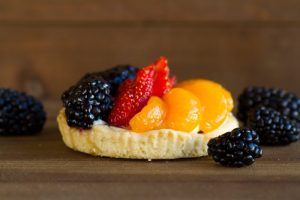 fruit tart at alaska cake studio