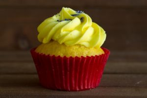 lemon lavender cupcake at alaska cake studio