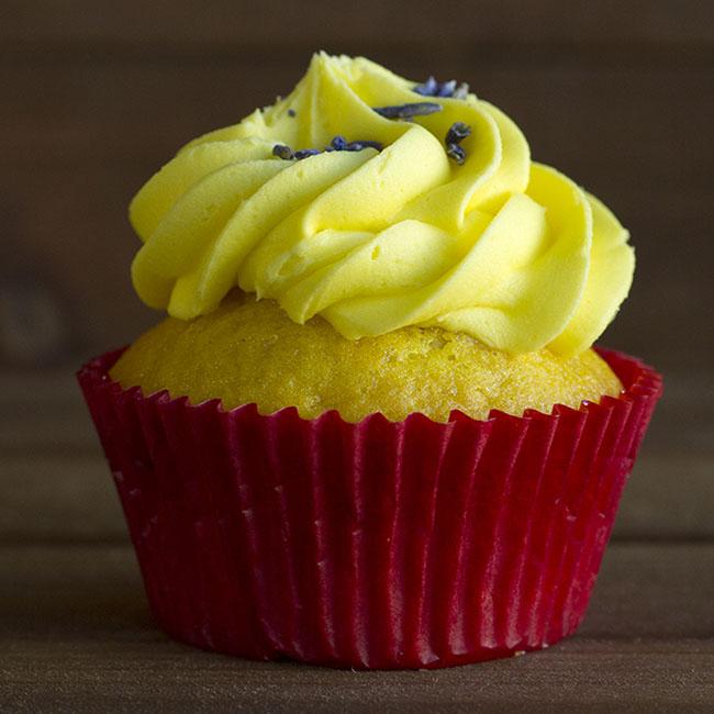lemon lavender cupcake at alaska cake studio