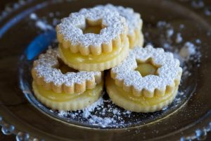 lemon linzer cookies at alaska cake studio