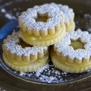 lemon linzer cookie at alaska cake studio