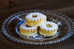 lemon linzer cookies at alaska cake studio