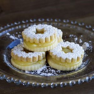 lemon linzer cookie at alaska cake studio