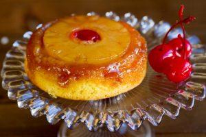 pineapple upside down cake at alaska cake studio