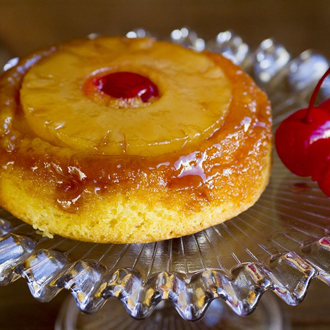pineapple upside down cake at alaska cake studio