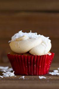 toasted coconut cupcake at alaska cake studio