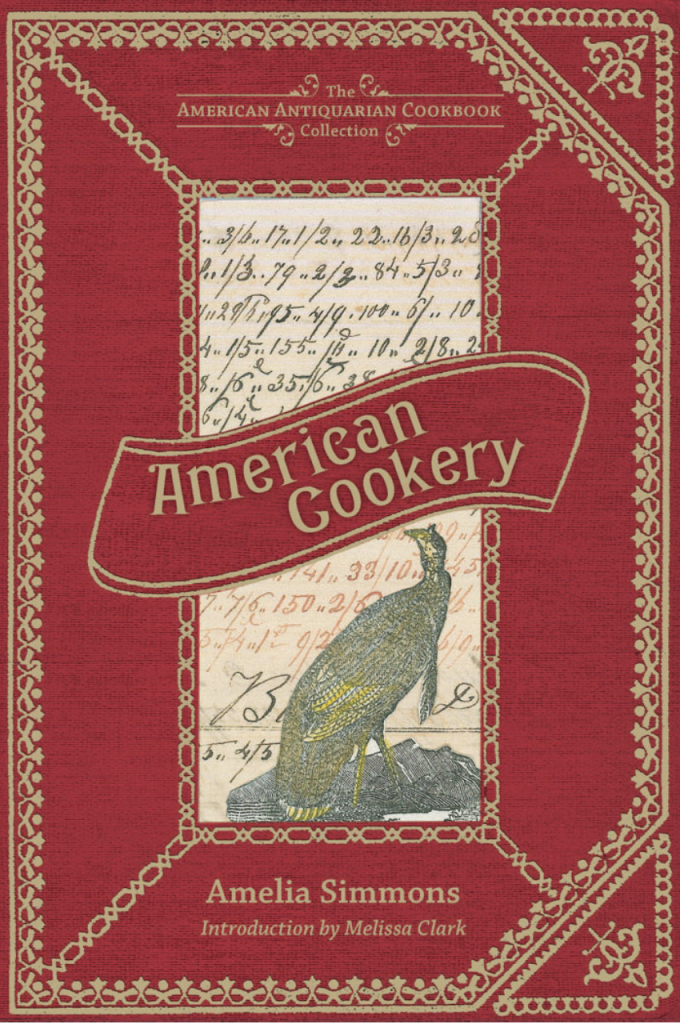 "Cover of the 1796 cookbook, ""American Cookery"""