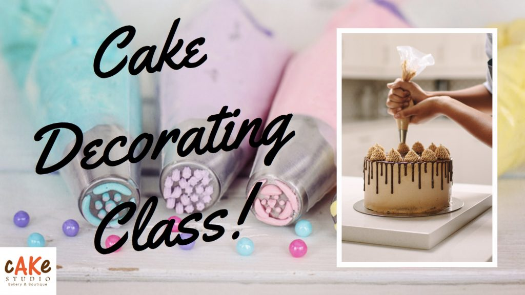 Examples of cake decorating and cake decorating tools